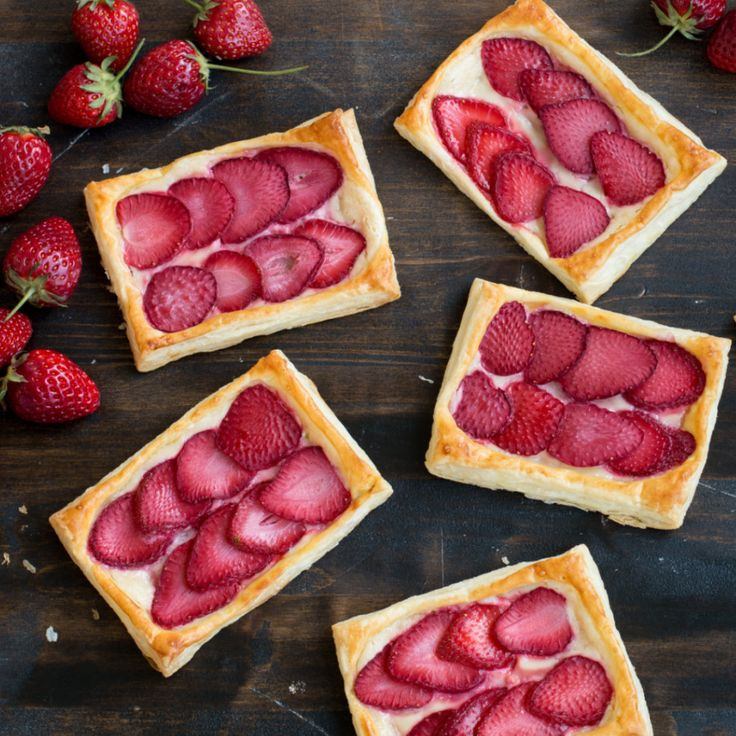 Strawberry Cream Cheese Pastries by Tastemade - super quick and easy, but recipe has lots of typos.  Read through carefully before starting.