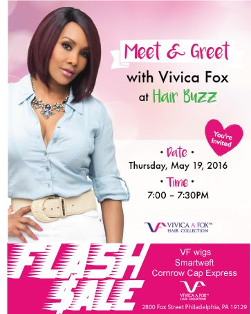 Looks who's coming to town, Meet & Greet With Vivica Fox! May 19.