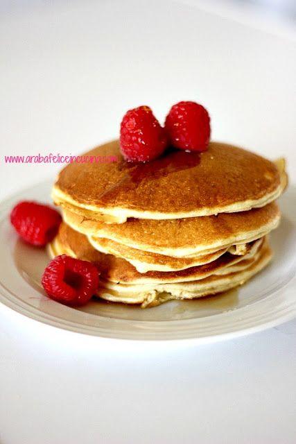 Arabafelice in cucina!: Pancakes senza latticini, senza farina e senza zucchero!