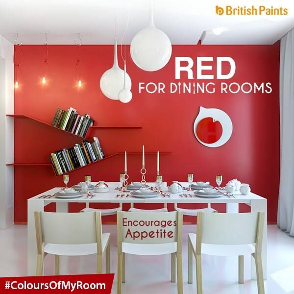 Red Is A Classic Hue For Dining Room Due To Its Ability Stimulate Appetites And