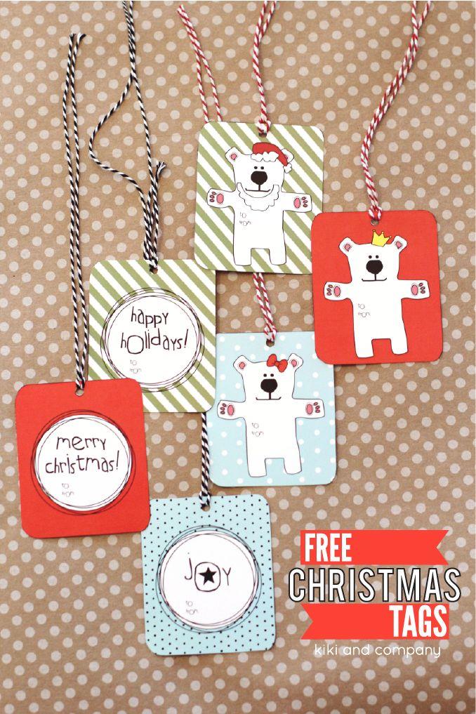 Free printable Christmas tags -so cute!
