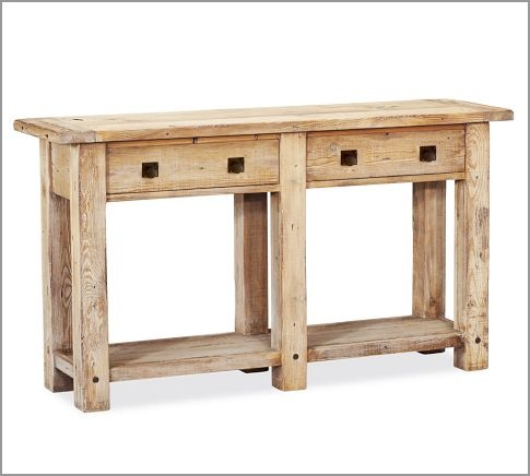 Pine Console Table Made With Reclaimed Wood Complete With