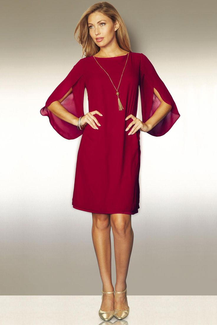 Flutter Sleeve Dress & Detachable Necklace: Unique & Bold Women's Clothing from #metrostyle $49.99