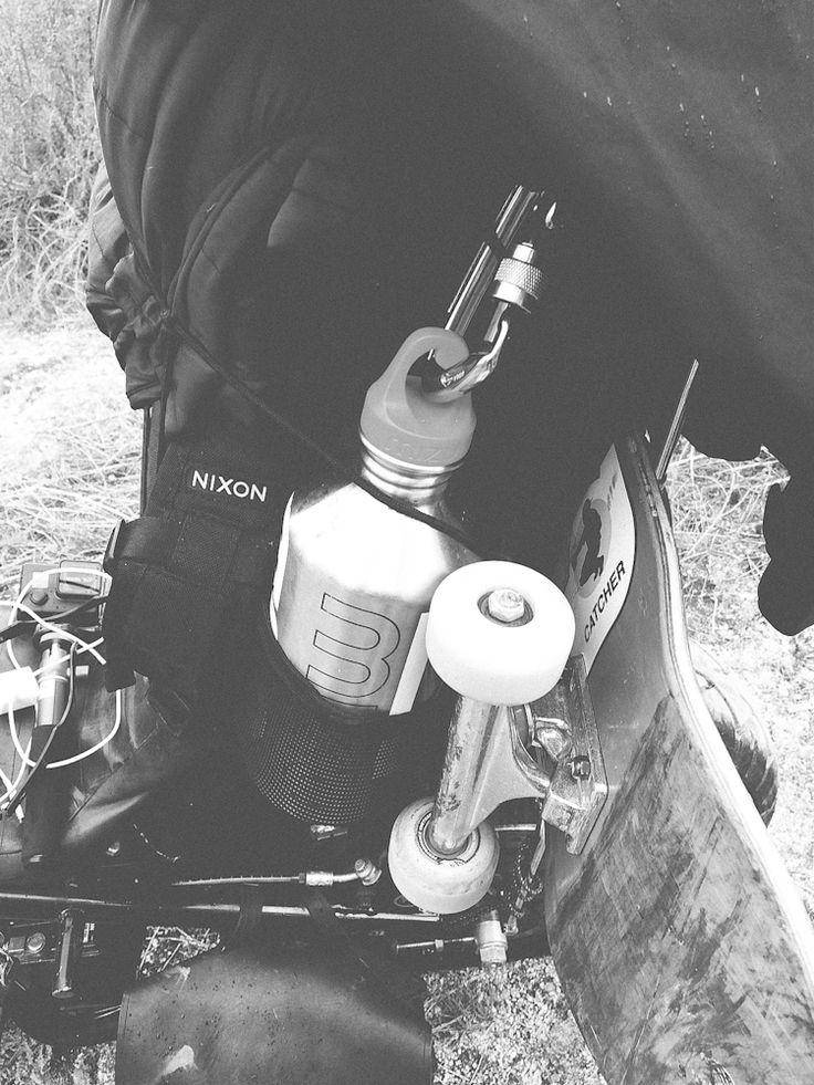 Mizu bottle skateboard
