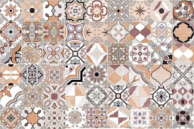 This on trend patterned tile is perfect as both a wall tile and floor tile. Perfect for creating a kitchen splashback or how about a funky conservatory floor?   This range contains 10 different tile designs to create a truly authentic patchwork feel.   Beautiful Moroccan inspired patterns with a retro colour palette.   Kasbah can be used outdoor and would make a perfect Moroccan inspired patio or courtyard