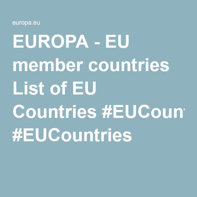 EUROPA - EU member countries List of EU Countries #EUCountries