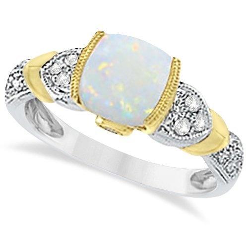 Diamond, Australian Opal, and Tanzanite Cushion Cocktail Ring For Women 14k Two-Tone Gold (1.10ct) Allurez, http://www.amazon.com/dp/B009OOFY9K/ref=cm_sw_r_pi_dp_4yO3qb0GMRFSM