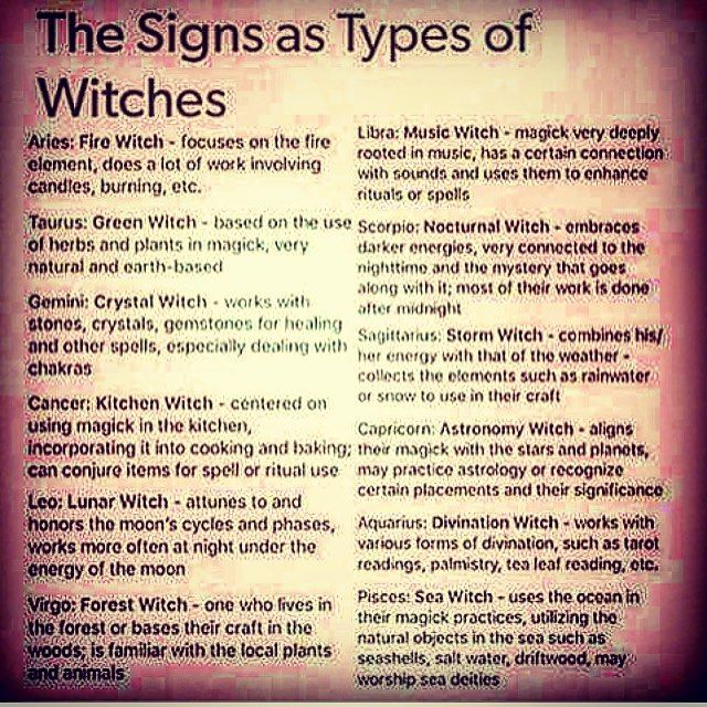 """761 curtidas, 98 comentários - ᚨᛈ • Lindsay • ᛇᛉ (@thewitchoftheforest) no Instagram: """"This is an interesting list of the 12 star signs against a variety of Witch types. As a Taurus, I'm…"""""""
