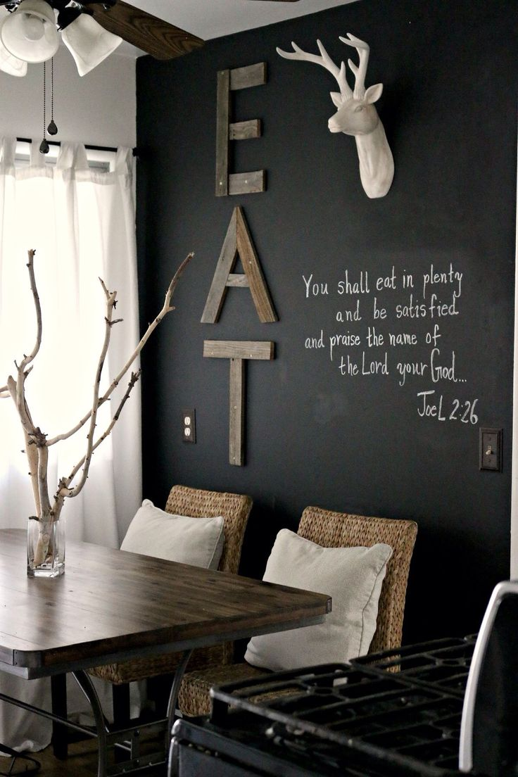 Dining Room ideas- like the scripture Bible verse (Joel 2) for the dining room (not the decor)