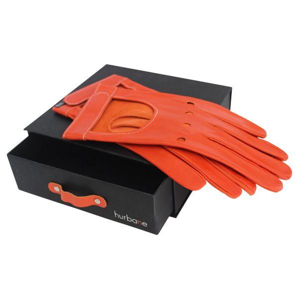 Gants rallye Hurbane - cuir orange