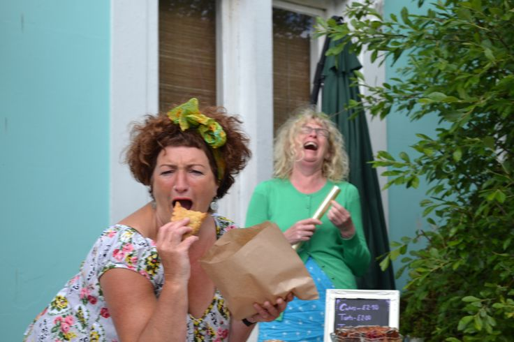 Our gorgeous bakers at Myrtle Bakes enjoying some baked goods.  #myrtlebakes #lovefood