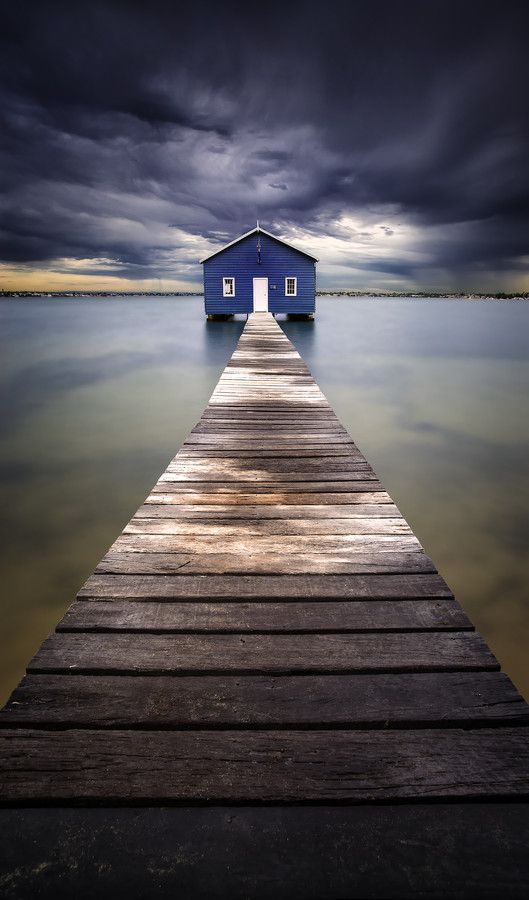 Perth Places ~Little Blue ~ Blue Boatshed, Perth, Australia by Leah Kennedy~~