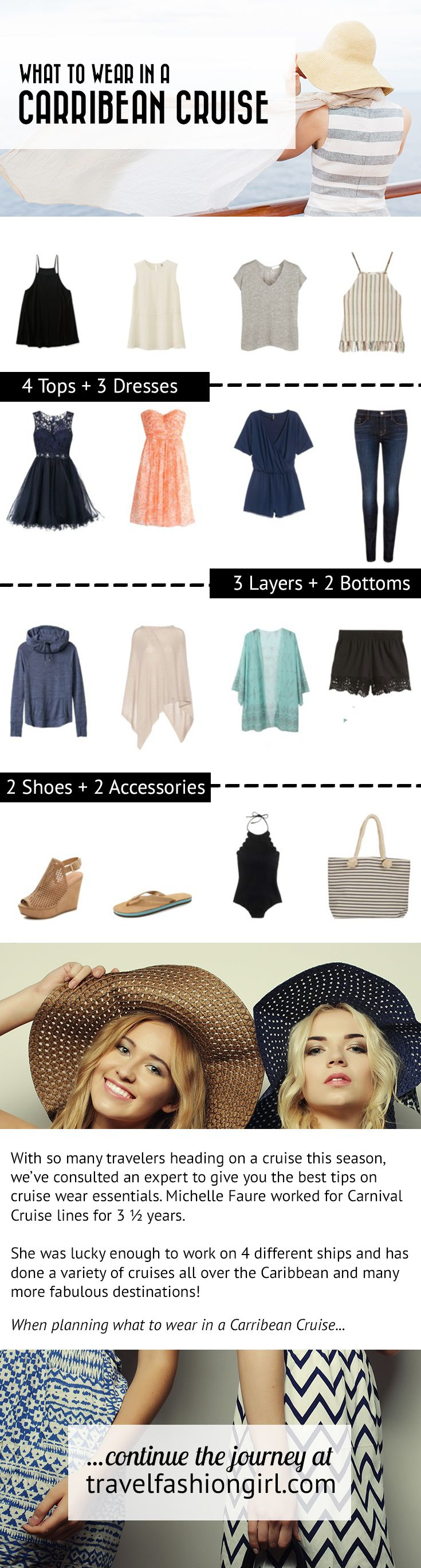 With so many travelers heading on a cruise this season, we've consulted an expert to give you the best tips on cruise wear essentials. Follow these expert tips! http://travelfashiongirl.com/caribbean-cruise-wear-essentials-cruise-dresses-and-more/ via @travlfashngirl #packing #list #travel