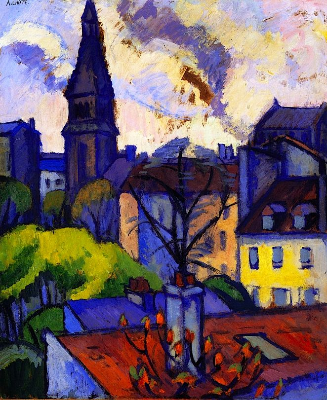 The City (c.1905-10). André Lhote was a French sculptor and painter of figure subjects, portraits, landscapes and still life. He was also very active and influential as a teacher and writer on art. After initially working in a Fauvist style, Lhote shifted towards Cubism and joined the Section d'Or group in 1912, exhibiting at the Salon de la Section d'Or. He was alongside some of the fathers of modern art, including Gleizes, Villon, Duchamp, Metzinger, Picabia and La Fresnaye.