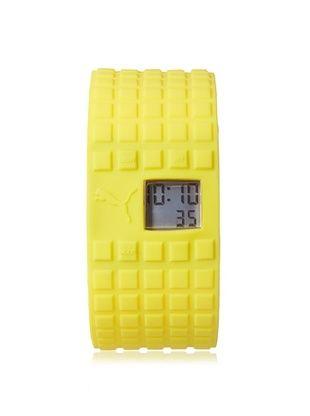50% OFF PUMA Unisex PU910832005 Cell Yellow/Grey Silicone Watch