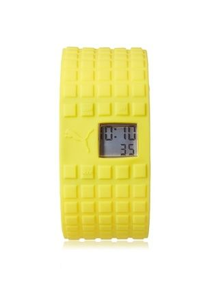 55% OFF PUMA Unisex PU910832005 Cell Yellow/Grey Silicone Watch