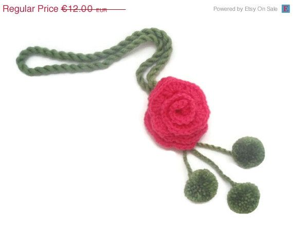 For today only Bridesmaid Gift  Crochet Necklace   by CRAZYBOOM