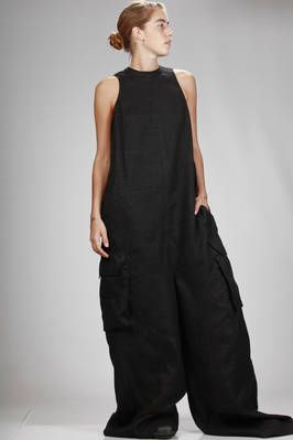 Rick Owens | wide and very long dungarees in silk and wool gauze | #rickowens