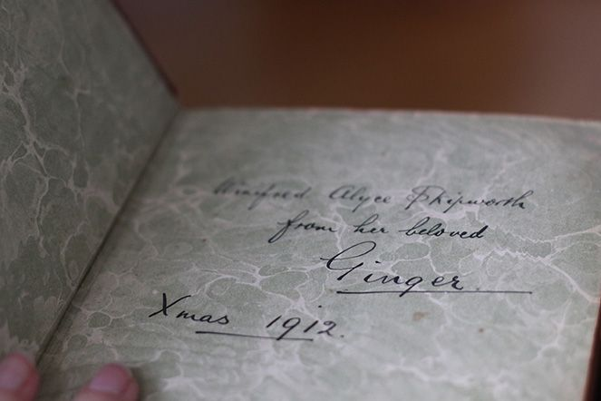 Old book with inscription