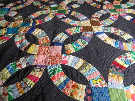 120 best DOUBLE WEDDING RING quilts images on Pinterest Double