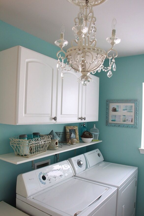 Being that if you're a mother, you are typically going to be spending a lot of time in your laundry room... So... Why not make it pretty?! Make it interesting!