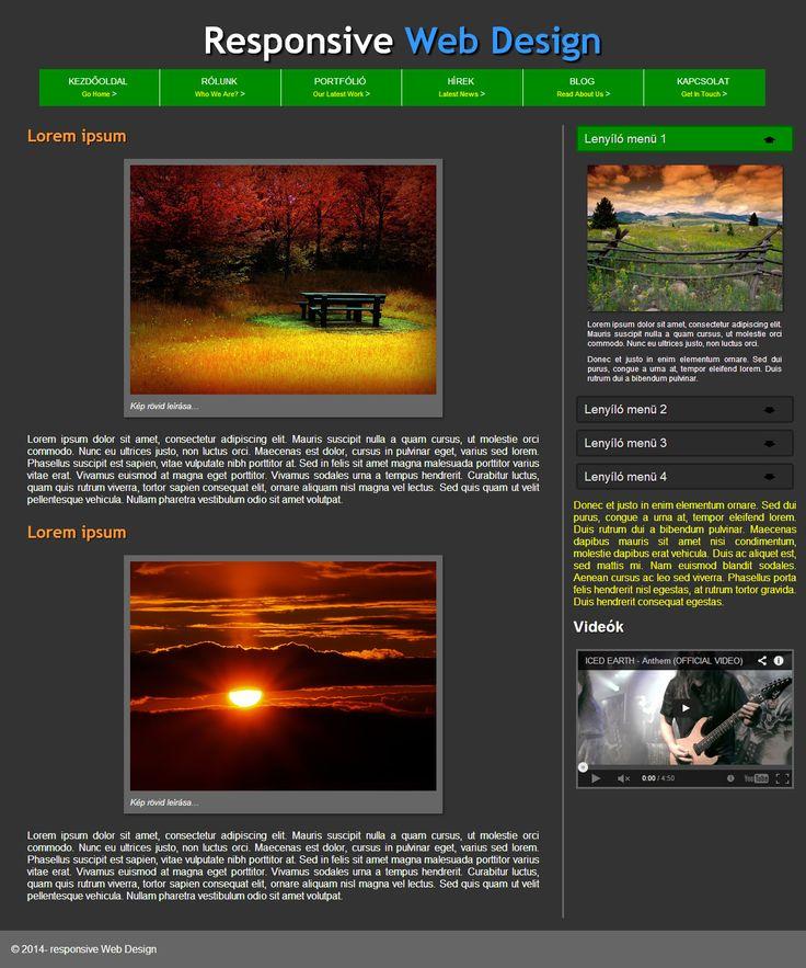 Sz. Attila - Responsive weboldal
