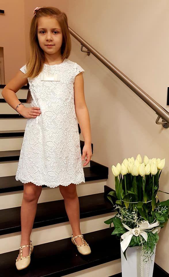 Sukienka Koronkowa Dziewczeca 92 116
