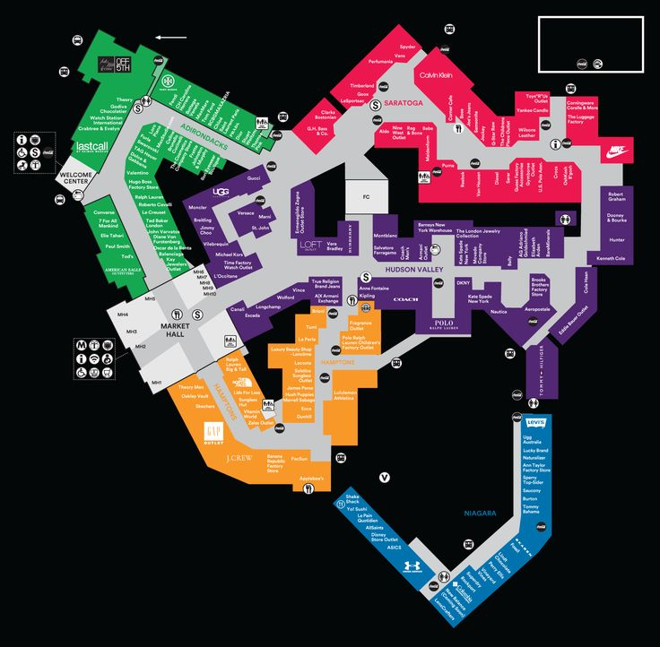 Mall Map For Woodbury Common Premium Outlets®, A Simon Mall - Located At Central…