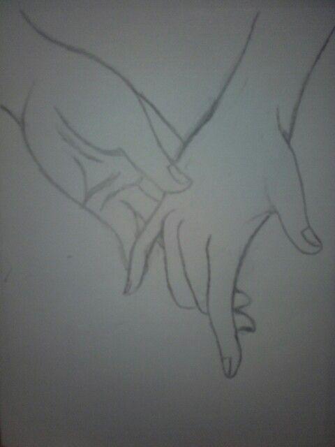 Dessin mains d amour.❤