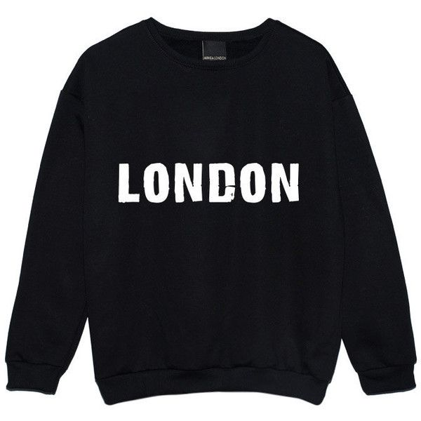 London Sweater Jumper Womens Ladies Fun Tumblr Hipster Swag Fashion... ($22) ❤ liked on Polyvore featuring tops, black, sweatshirts, women's clothing, punk tops, hipster tops, star print top, retro tops and black top
