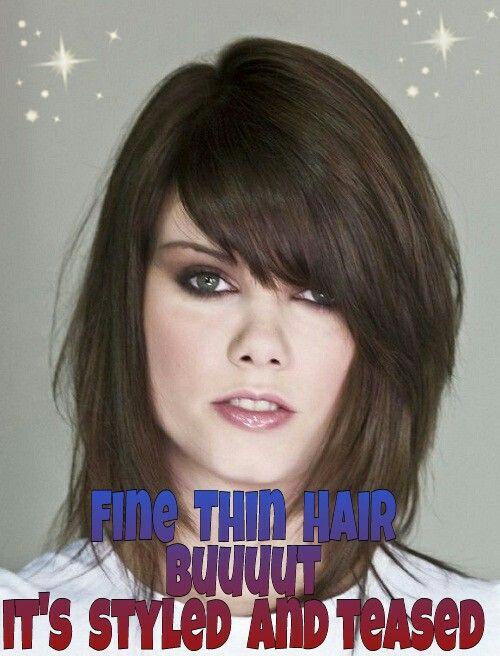 10 best fine thin hair meduim length images on Pinterest | Midi hair ...