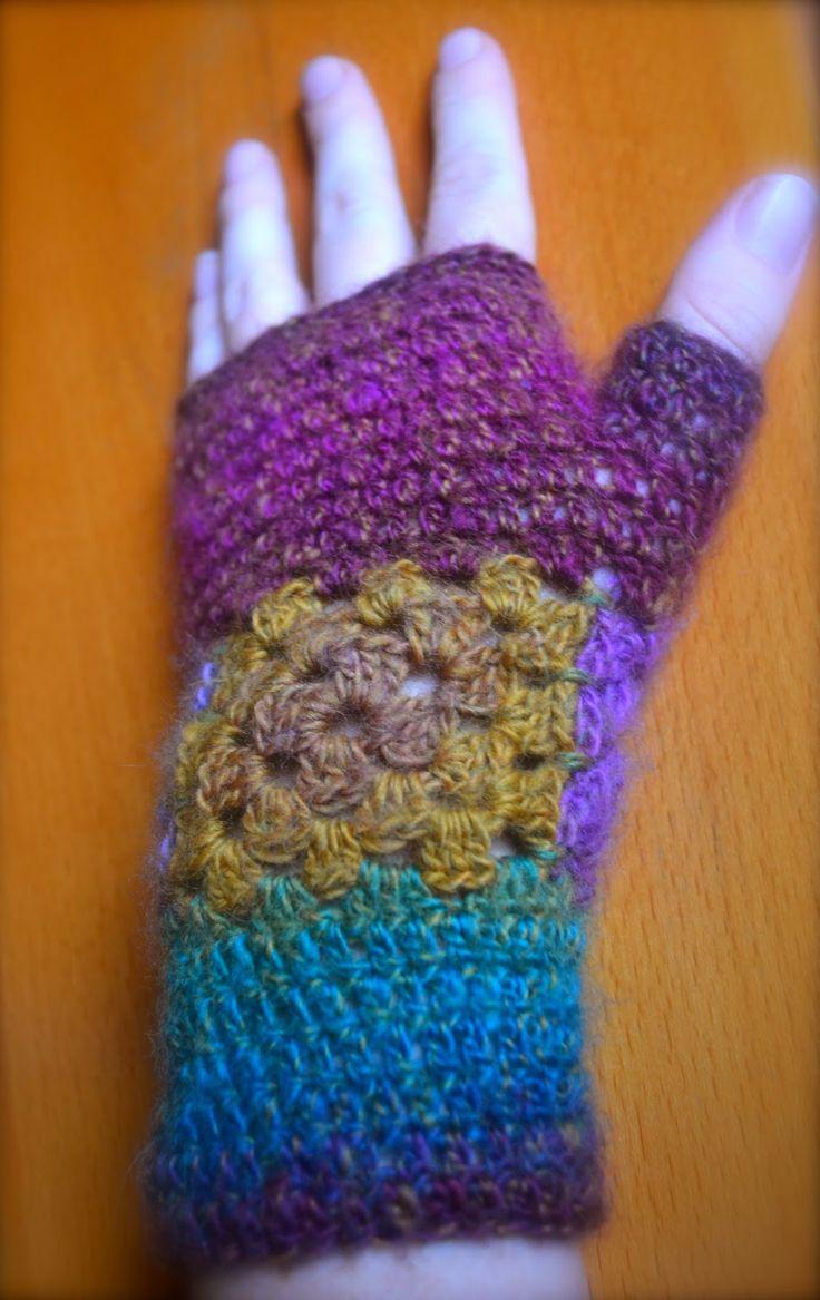 Hæklede håndledsvarmere - god til den kolde tid.. :)