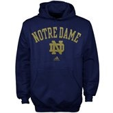 adidas Notre Dame Fighting Irish Youth Primary Arch Pullover Hoodie - Navy Blue