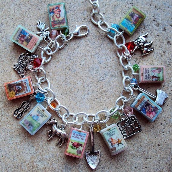 Book Jewelry: Little House on the Prairie Charm Bracelet