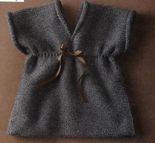 Easy baby dress knitting