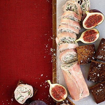 Julskinksrulle med senapskräm