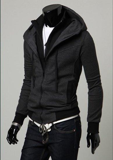 Double Zipper Jacket Mens Jackets Dark Grey