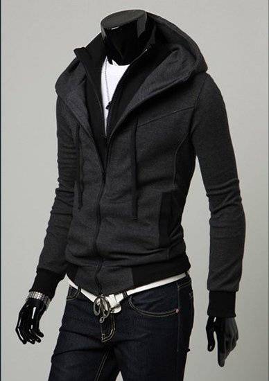 Double Zipper Jacket Mens Jackets Dark Grey