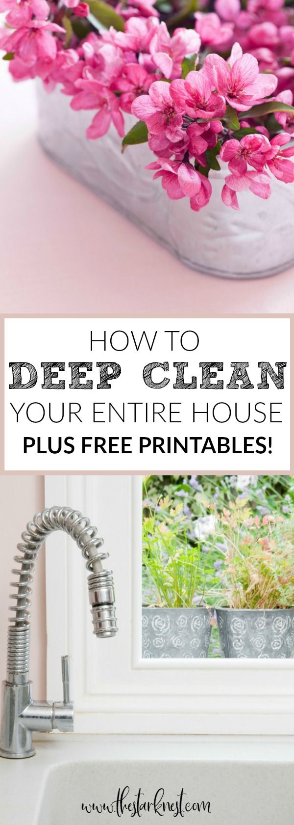 This super thorough guide is filled with tips and tricks for getting every square inch of your home sparkling clean! Plus a free spring cleaning toolkit designed to help you keep your entire house clean throughout the year! #springcleaning #cleaningtips