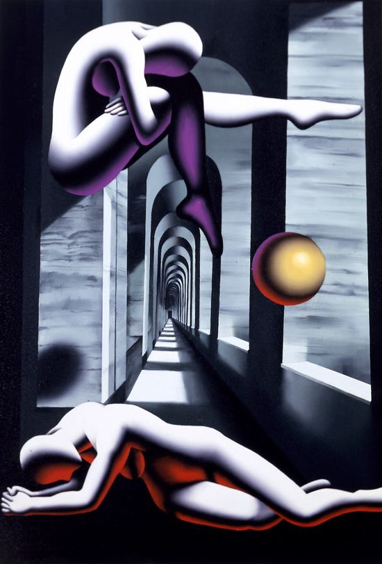 Mark Kostabi, paintings