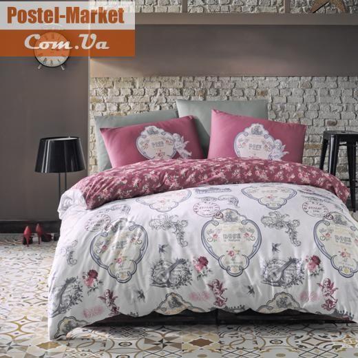 Постельное белье LUOCA PATISCA Ranforce YOANNA темно-розовое Двуспальный евро . Купить в интернет магазине Постель Маркет. ( Киев, Украина )
