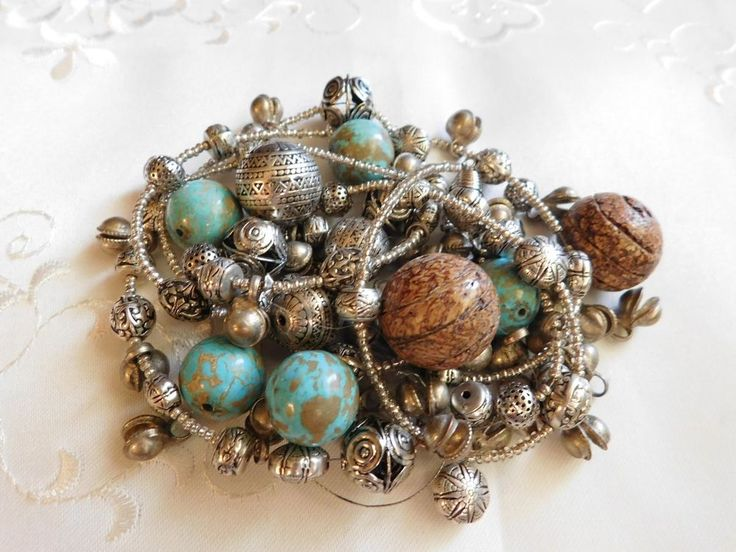 Scrap sterling silver beads plus turquoise from broken jewelry 98grams | eBay