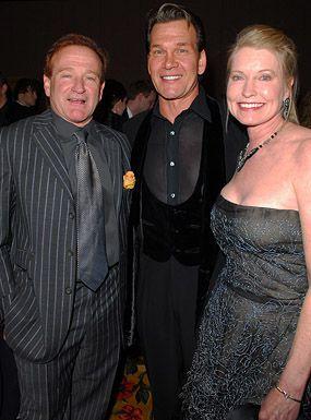 Robin Williams, Patrick Swayze and wife Lisa Niemi - Muhammad Ali's Celebrity Fight Night XII, March 18, 2006   Photo Credits: courtesy Michael Caulfield/WireImage.com