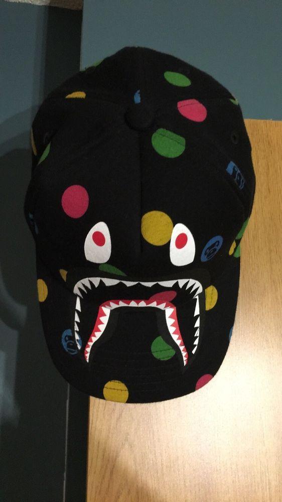 502a7e49bc8 Bape Hat Polka Dot Shark Face  fashion  clothing  shoes  accessories   mensaccessories  hats  ad (ebay link)