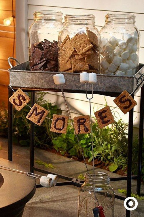Rusti Smores Bar For Bridal Shower Party Himisspuff