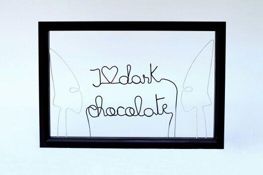 Hypocrisy (Ku Klux Klan conversation) | 30 X 40 cm  | wood frame,  galvanized wire & acrylic paint | contact & sales: artbending@gmail.com