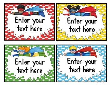 Keep your Superhero Theme classroom running smoothly by giving each of your students a classroom job! The clip art on these 40 classroom helper labels is perfect for your Superhero Themed Classroom. You can print out the cards and attach them to ribbons under the super duper helper chart.