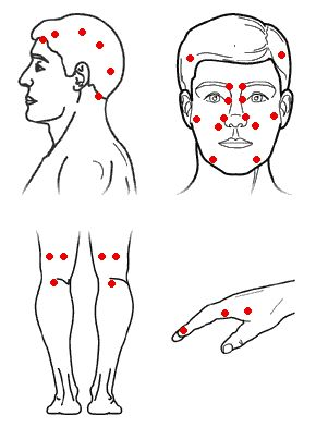 massage points for nasal congestion