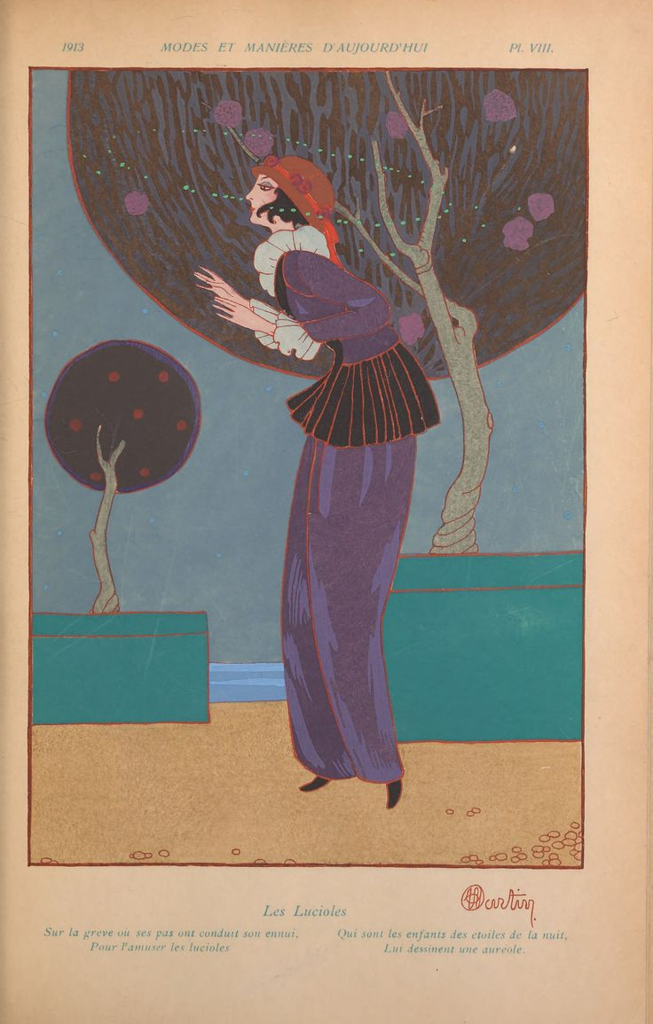 Charles Martin fashion illustration 1913 from French periodical Modes et Manières d' Aujourd'Hui.
