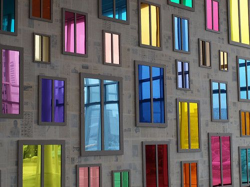 Colourful windows.